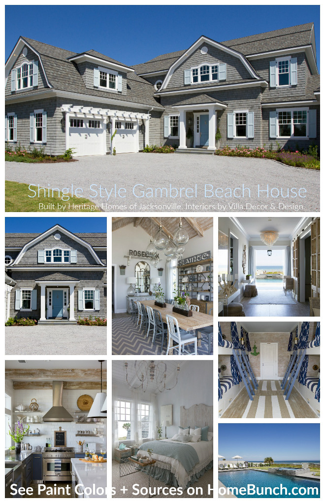 Shingle style gambrel beach house photos and interiors