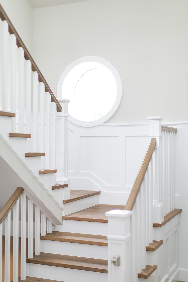 Benjamin Moore Decorator's White with Benjamin Moore Revere Pewter. This is a color combo I often recommend to my own clients as well: Benjamin Moore Decorator's White with Benjamin Moore Revere Pewter. #BenjaminMooreDecoratorsWhite #BenjaminMooreReverePewter Churchill Design