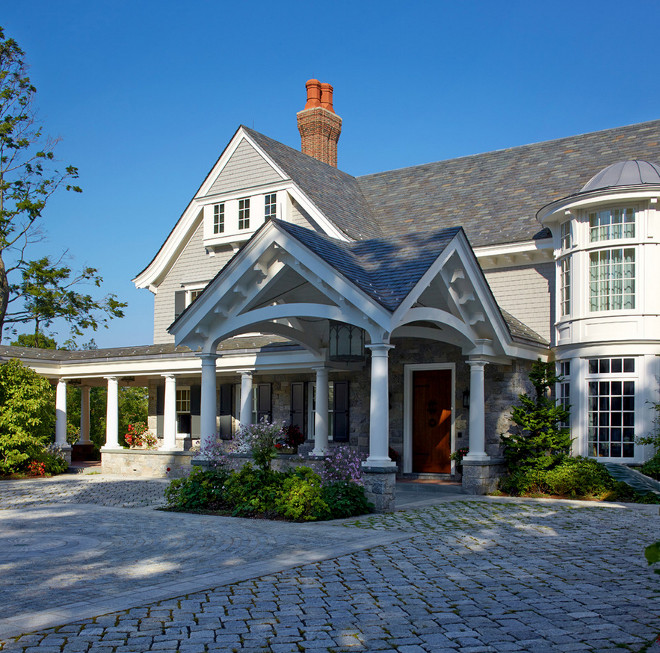 Stone and shingle exterior. Stone and shingle home exterior. Field Stone and shingle home exterior #Stone #shingle #homeexterior Brooks and Falotico Associates, Inc.