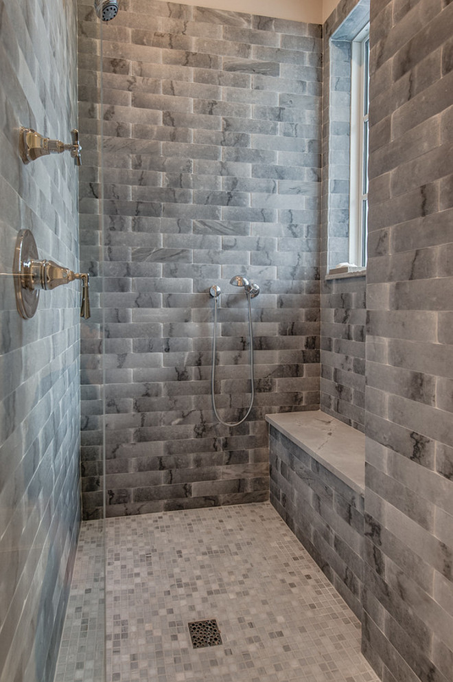 Walk in Shower Tiles. Walk in Shower Tile Combination. Walk in Shower Tile Ideas. Walk in Shower Tiling #WalkinShower #Tiles Calusa Construction, Inc.