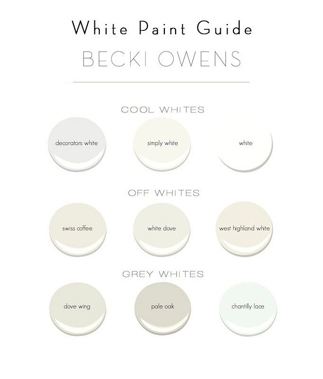 White Paint Colors. Cool white Paint Color. Off Whites Paint Color. Grey Whites.