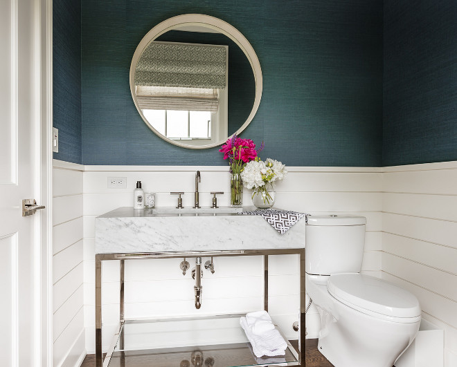 Half Wall Shiplap Wainscoting. Powder Room Half Wall Shiplap Wainscoting. Half Wall Shiplap Wainscoting. Half Wall Shiplap Wainscoting Ideas #HalfWallShiplapWainscoting #HalfWall #Shiplap #Wainscoting Alisberg Parker Architects.