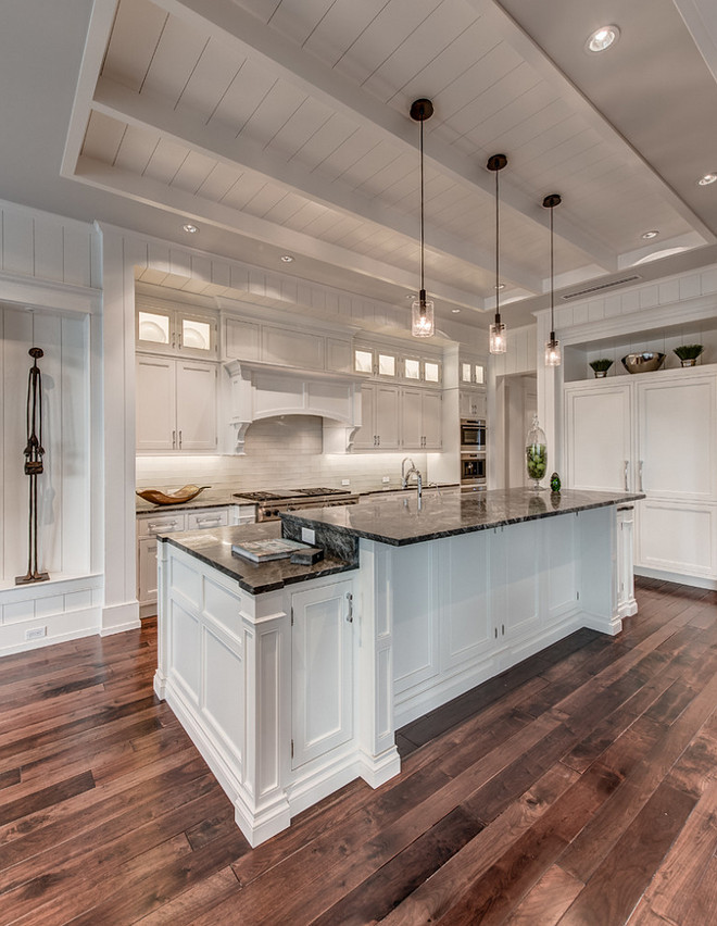 Kitchen Tray Ceiling with Shiplap . Kitchen Tray Ceiling with Shiplap and beams. Kitchen Tray Ceiling with Shiplap. Shiplap Tray Ceiling #Kitchen #TrayCeiling #ShiplapCeiling #ShiplapTrayCeiling Calusa Construction, Inc.
