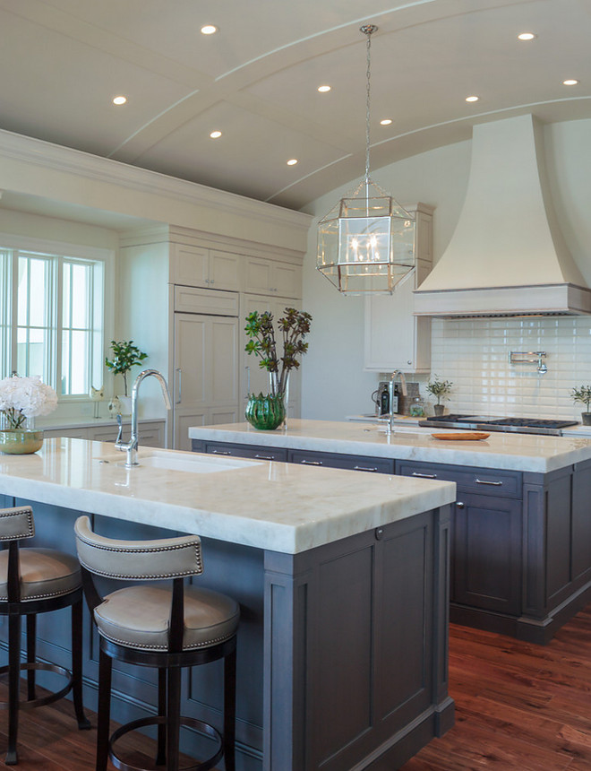Kitchen Barrel Ceiling. Kitchen Barrel Ceilings. Kitchen Barrel Ceiling and two islands. Kitchen Barrel Ceiling lighting. Kitchen Barrel Ceiling #KitchenBarrelCeiling #Kitchen #BarrelCeiling #BarrelCeilingLighting #lighting BCB Homes, Inc.