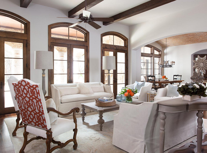 Living room white furniture. Living room white furniture ideas. How to decorate a living room with white slipcovered furniture. Living room white furniture #Livingroom #whitefurniture #whiteslipcovered #slipcoveredfurniture Heather Scott Home & Design