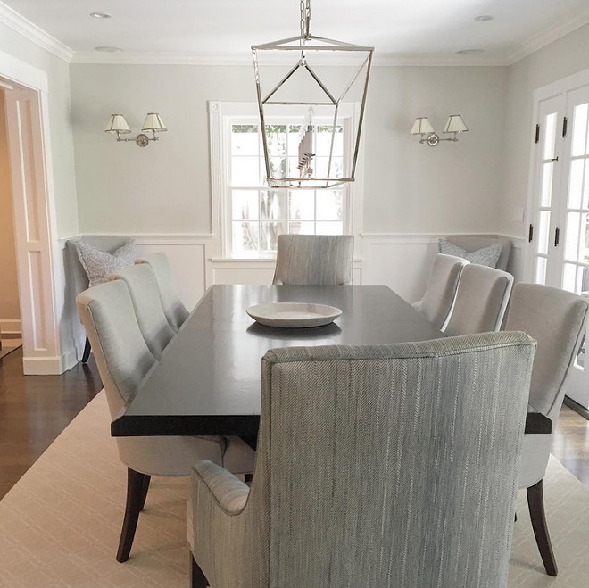 Darlana Linear Chandelier. Dining room features Darlana Linear Chandelier. Darlana Linear Chandelier in Polished Nickel. Darlana Linear Chandelier #DarlanaLinearChandelier #DarlanaLinear #Chandelier #Darlana #LinearChandelier #Darlana #Linear #Chandelier Brooke Wagner Design