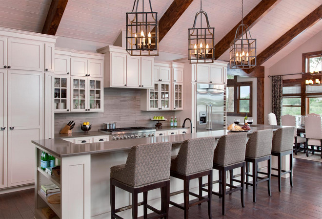 Kitchen island with three pendant lights. Kitchen island with three pendant light spacing. Kitchen island with three pendant light ideas #Kitchenisland #threependantlights #threependantlighting Heather Scott Home & Design