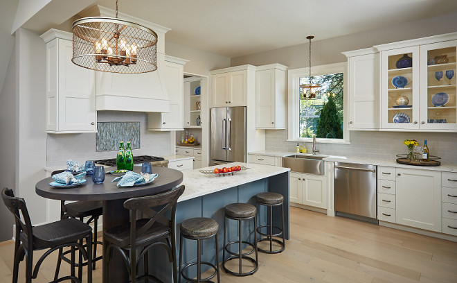 Transitional kitchen paint color. Transitional kitchen paint color ideas. Cabinet paint color is BM White Dove. Transitional kitchen paint colors. Transitional kitchen color scheme. #Transitionalkitchen #paintcolor #Transitionalkitchencolorscheme #colorscheme Mike Schaap Builders