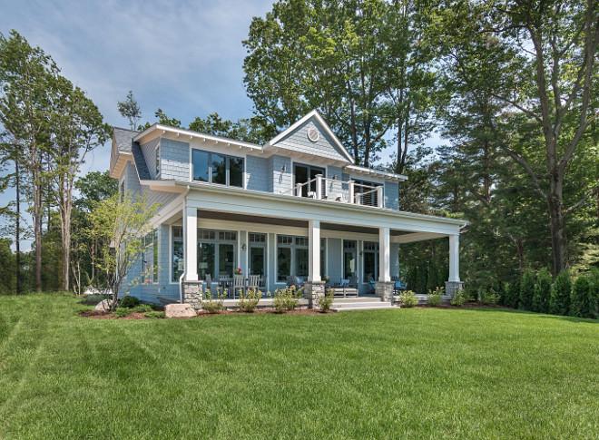 Back porch. Home exterior back porch ideas. Back porch design and architectural details. #backporch #porch #backporchideas