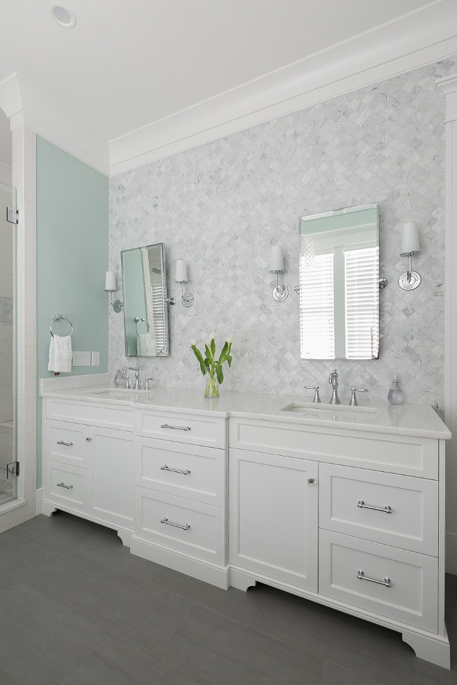 Bathroom Arabesque Wall Tile. Arabesque Wall Tile is Ann Sacks Eastern White Mosaics. Bathroom Arabesque Wall Tile. Bathroom Arabesque Moisaic Tile #Bathroom #Arabesque #WallTile #Tile#AnnSacks #EasternWhiteMosaics #BathroomTile