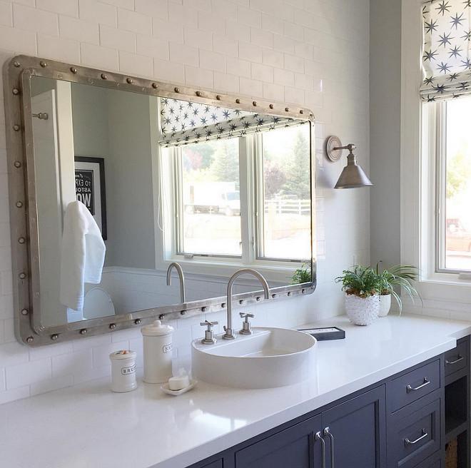 Bathroom Mirror. Bathroom mirror is the maritime mirror from GO Home Ltd. #Bathroom #mirror #bathroommirror Caitlin Creer Interiors