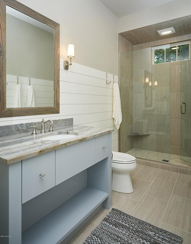 Pebble tiles bathroom floor - Coastal Beach House For Sale Home Bunch Interior Design Ideas