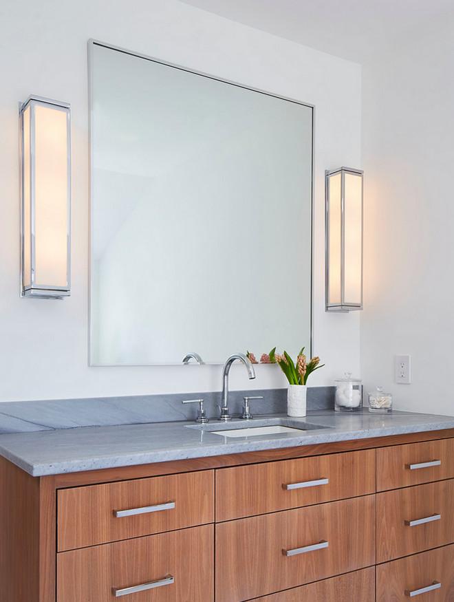 Bathroom cabinet wood Martha O'Hara Interiors