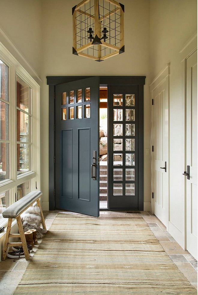 Benjamin Moore Midnight Blue 1638 Dark Paint Color For Doors