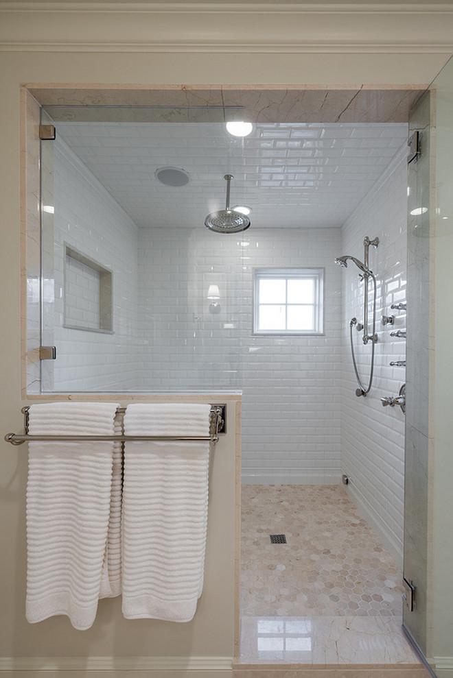 Beveled shower tile. Beveled shower tile combination ideas. Beveled shower tile with octogan floor tiles. #Beveledshowertile #showertile #shower #tile Northstar Builders, Inc.