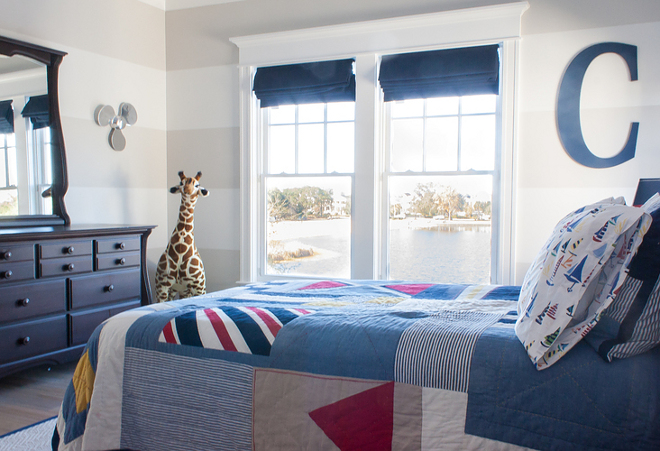 Boys Bedroom Bedding. Classic boys bedroom bedding. Bedding is from Pottery Barn Kids. Classic boys bedroom bedding ideas. #Classicboysbedroom #boysbedroom #bedding The Guest House Studio