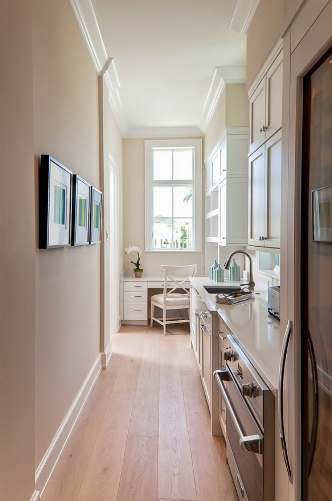 Butler Pantry. Butler Pantry with desk. Butler Pantry Ideas. Clever Butler Pantry idea, adding a desk for errands and recipes. Butler Pantry #ButlerPantry #ButlersPantry BCB Homes, Inc.