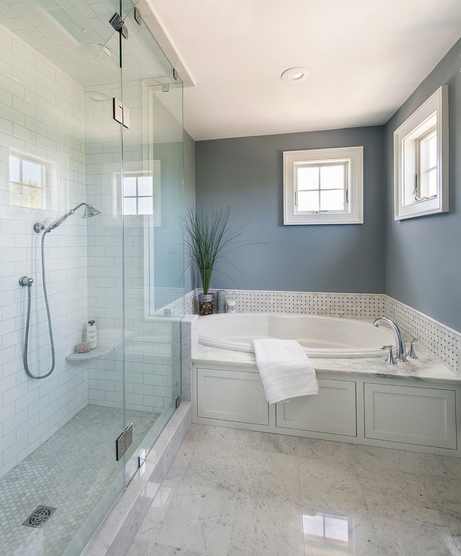 C-2 Paints Zydeco. Wall paint color is Zydeco by C2 Paints. Zydeco C2-487. Great grey paint color for bathrooms. Zydeco C2-487 #ZydecoC2 #bathroom #paintcolor Caldwell & Johnson Custom Builders & Remodelers