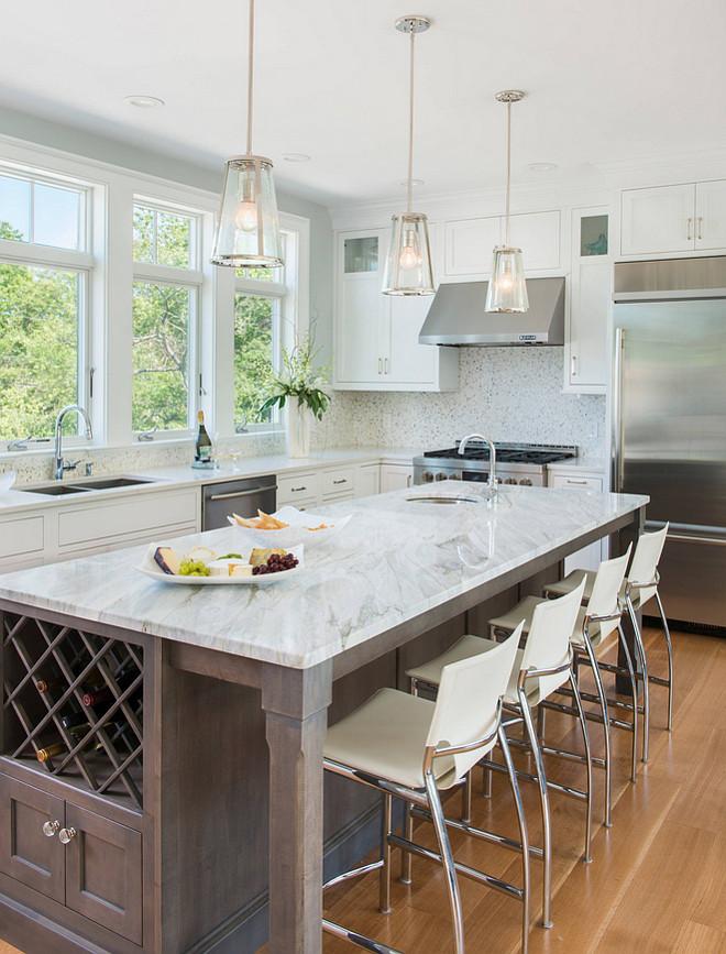 Calacutta Bluette Marble. Calacatta Bluette Marble. Kitchen countertop is Calacatta Bluette Marble. #CalacattaBluette #Marble Caldwell & Johnson Custom Builders & Remodelers