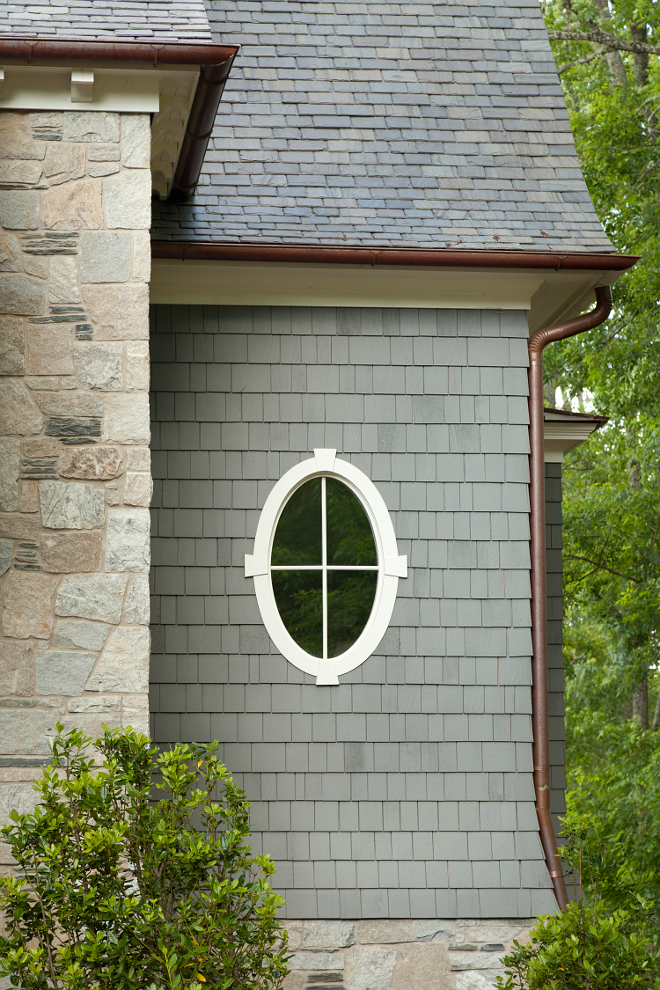 Oval windows. Oval windows. Shingle home with oval window. #Ovalwindow #window T.S. Adams Studio. Interiors by Mary McWilliams from Mary Mac & Co.