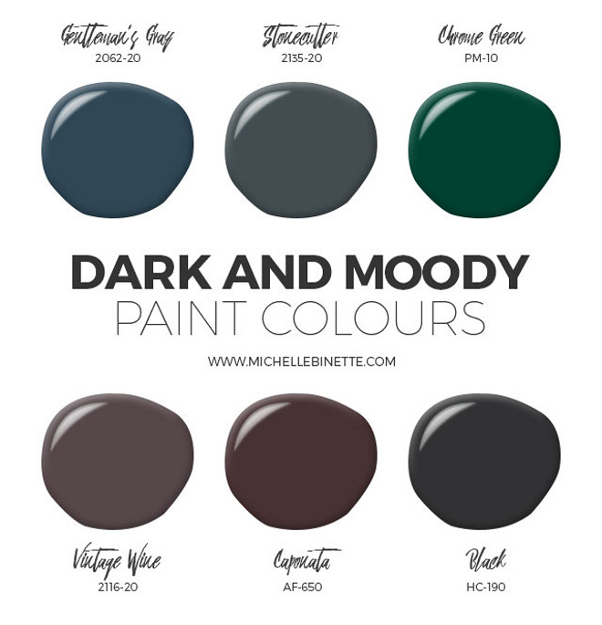 Dark, strong paint colors perfect for front door.