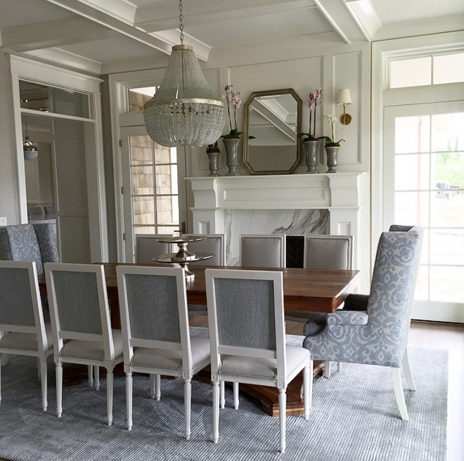 Dining Room. Dining Room with fireplace. Fireplace in dining room. #diningroom #fireplace #diningroomfireplace Caitlin Creer Interiors