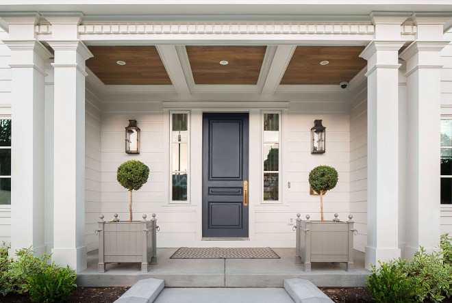 Front entry. Front entry. Front entry. Front entry door, planters, door sidelight, lighting, porch ceiling, pathway. Front entry #Frontentry #front #entry #door #planters #doorsidelight #light #porchceiling