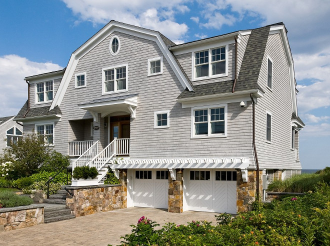 Gambrel Beach House. Gambrel Beach House Exterior Architecture and landscaping. Gambrel Beach House. #GambrelBeachHouse #Gambrel #BeachHouse Bowley Builders