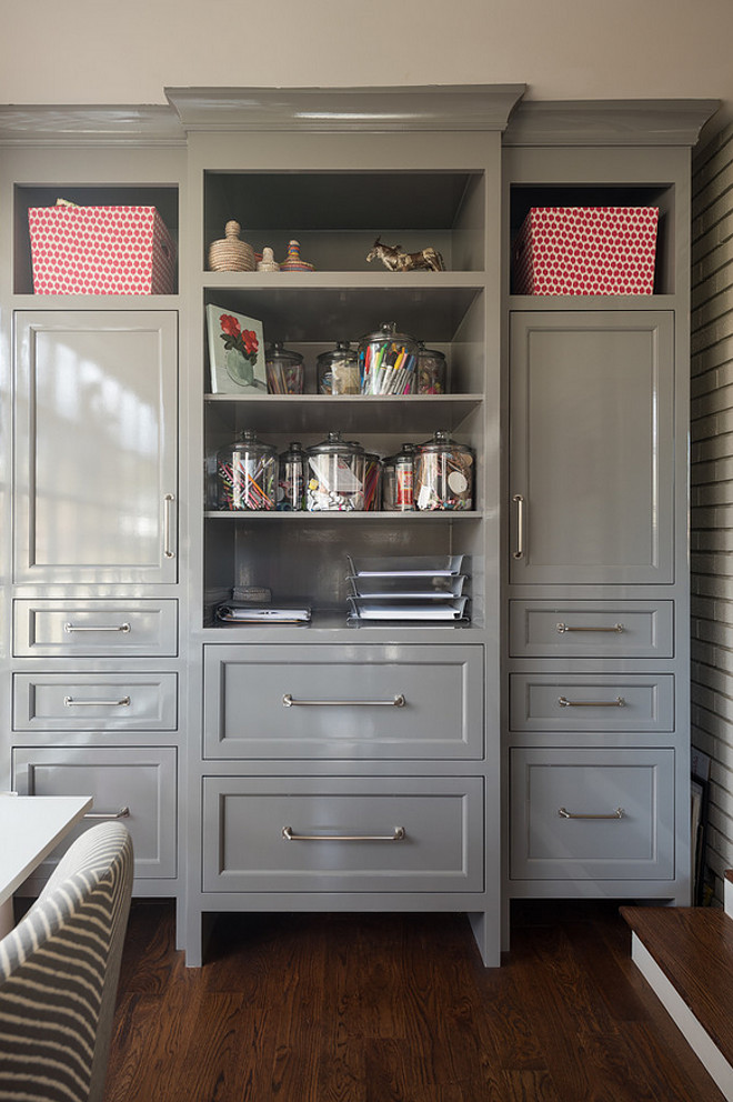 Home office cabinet ideas. Home office craft room cabinet. Home office craft room storage cabinet with open shelves. #Homeoffice #craftroom #cabinet Northstar Builders, Inc.