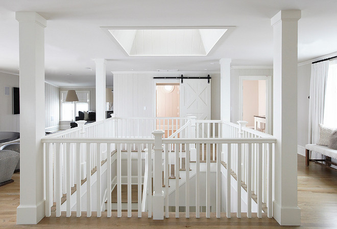 Interiors. Upstairs Landing area. Landing area ideas. Upstairs Landing area with skylight. #Landingarea #upstairsLandingarea TS Adams Studio Architects. Laura Allyson Interiors.