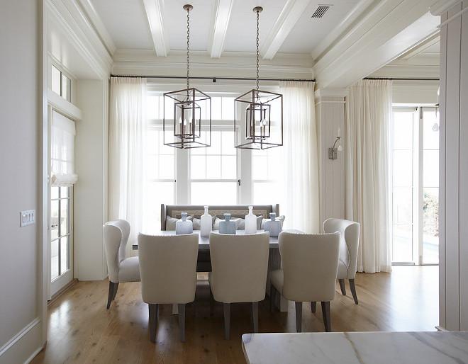 Ivory white dining room. Neutral, ivory white dining room. #Ivorywhite #diningroom TS Adams Studio Architects. Laura Allyson Interiors.