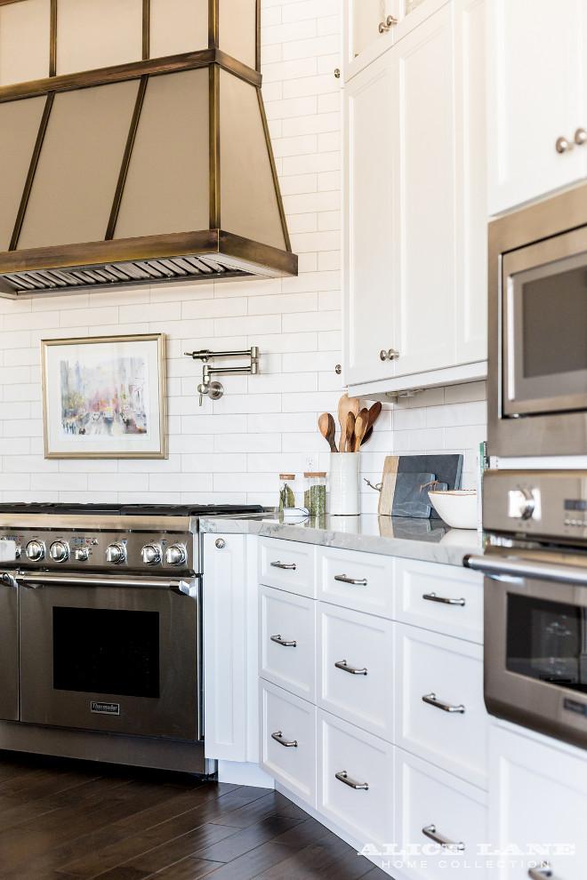 White Kitchen with Navy Blue Island Reno Ideas - Home ... on Kitchen Counter Top Decor  id=18135