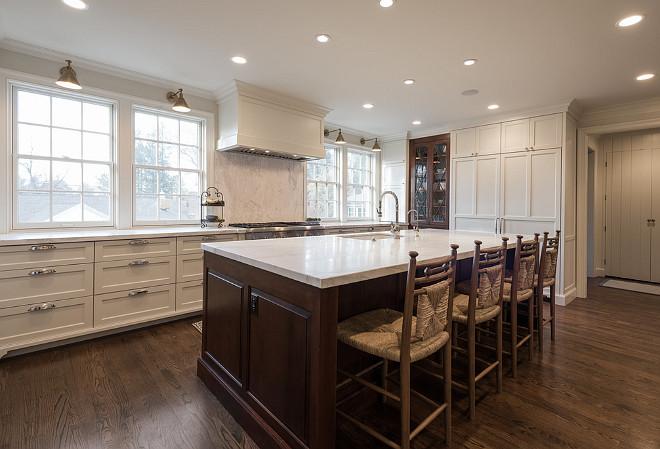 Kitchen with walnut island. White kitchen with walnut stained island. Kitchen walnut island. #Kitchen #whitekitchen #walnutIsland Northstar Builders, Inc.