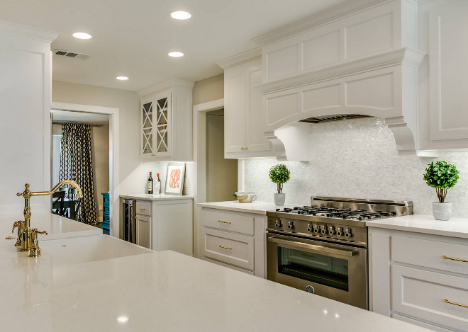 Kitchen with white quartz countertop. Kitchen with white quartz countertop ideas. Kitchen with white quartz countertop layout. #Kitchen #whitequartz #countertop Redo