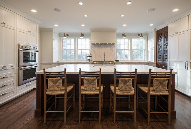 Kitchen with windows on both sides of hood. Kitchen layout for windows beside hood. #kitchen #layout #windowsbesidehood Northstar Builders, Inc.