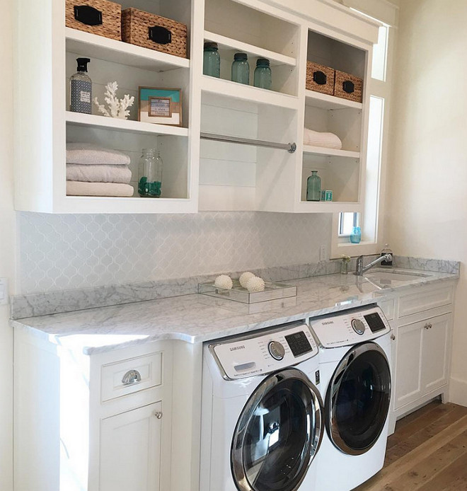 Laundry room. Coastal Farmhouse Laundry Room. Instagram Coastal Farmhouse Laundry Room. Popular Laundry room on Instagram. #CoastalFarmhouse #LaundryRoom Via our_coastal_farmhouse