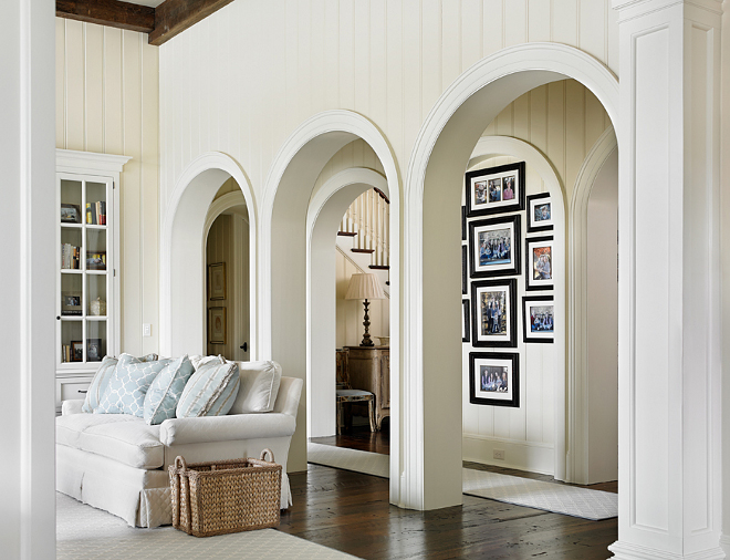 Arches. Archway. Hall between foyer and living room with arches. Archway #arches #archway T.S. Adams Studio. Interiors by Mary McWilliams from Mary Mac & Co.