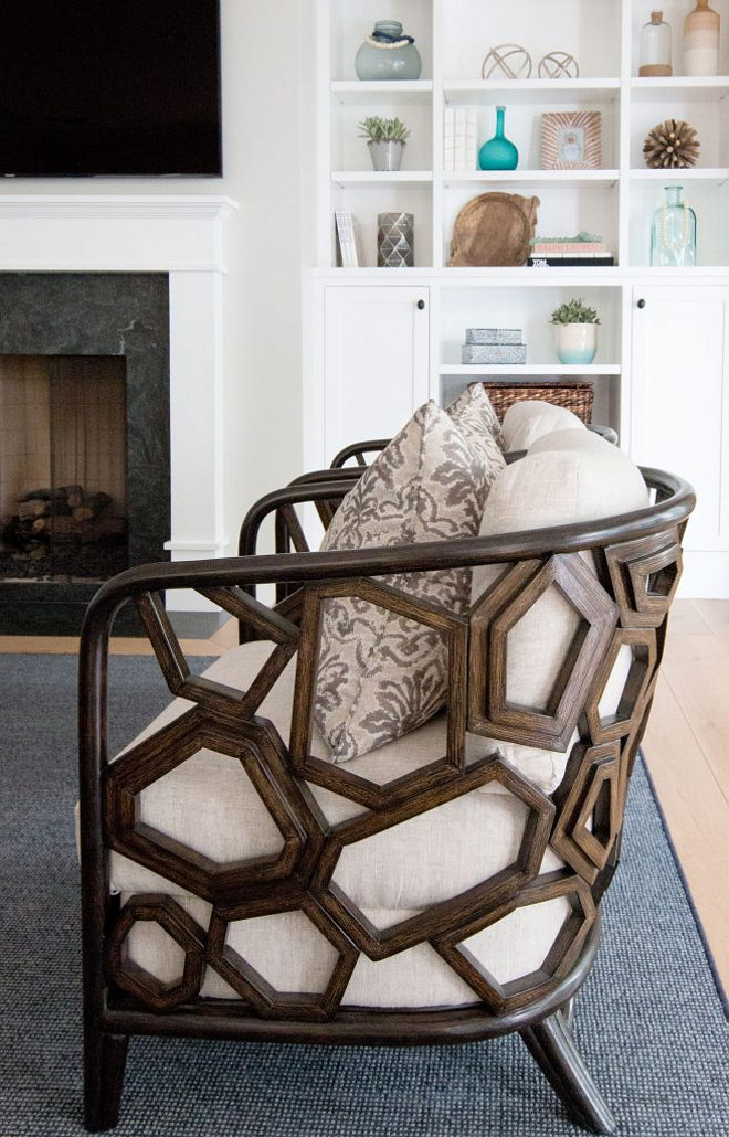 Living room chairs. Occasional chairs by Palecek. Living room chairs. Palecek chairs. #Palecekchairs #livingroomchairs #livingroom #chairs Graystone Custom Builders. Blackband Design.