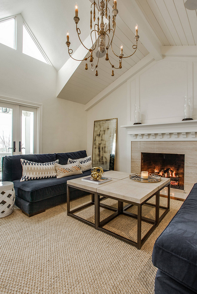 Living room vaulted ceiling with shiplap. This living room features ceiling with shiplap. Living room vaulted ceiling with shiplap. #Livingroom #vaultedceiling #shiplap #vaultedceilingshiplap Redo