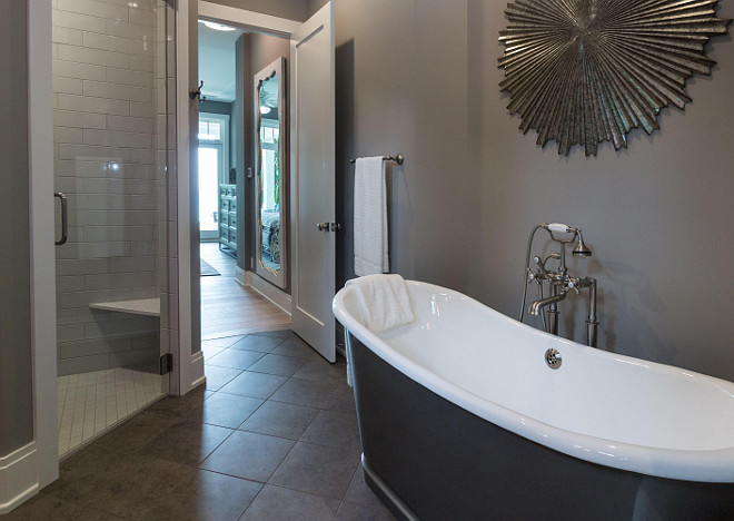 Master bathroom layout. Master bathroom with freestanding tub layout. #Masterbathroom #freestandingtub #layout