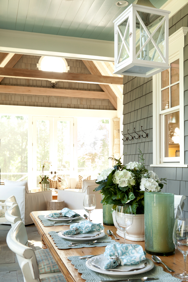 Outdoor tabletop ideas. T.S. Adams Studio. Interiors by Mary McWilliams from Mary Mac & Co.