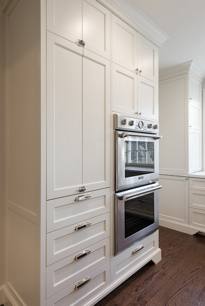 Oven cabinet ideas. Kitchen with stand alone oven cabinet with appliance garage. Kitchen oven cabinet. #Kitchen #oven #cabinet #appliancecabinet #appliancegarage Northstar Builders, Inc.
