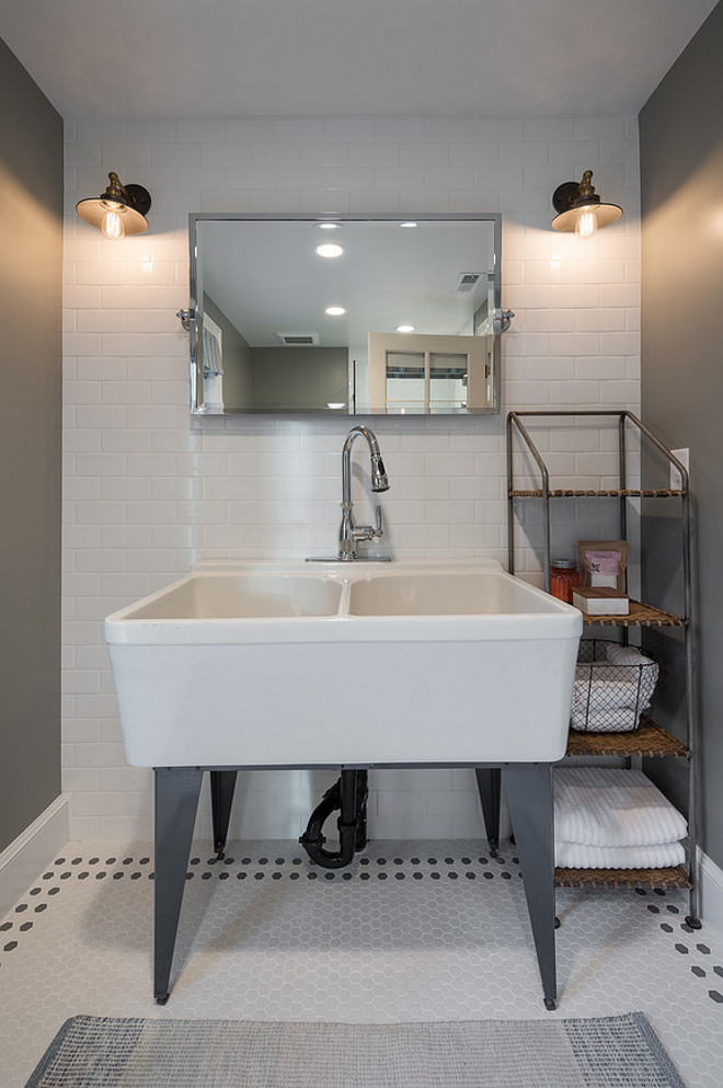 Oversized sink in bathroom. This is a great sink to be used in laundry rooms as well. Northstar Builders, Inc.
