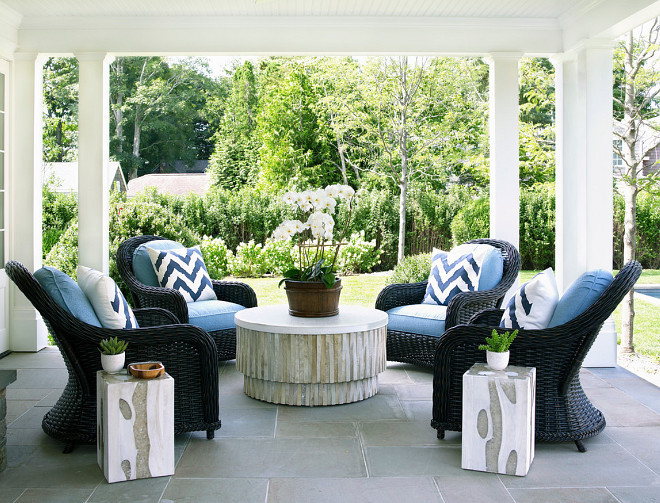 Porch Chairs. Porch sitting area. Porch with four chairs in circle. Phoebe Howard #porch #chairs