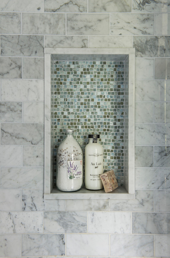 Shower Niche Tile Combination. Shower Niche Tile Combination ideas. Shower Niche Tile Combinations. Shower Niche Tile Combination. Niche accent tile is Lunada Bay Shibui Pewter Natural Glossy. #Shower #Niche #tile #tilining #TileCombination