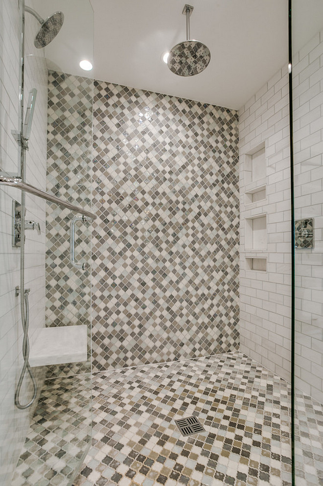 Shower Tiling. Accent shower tile. Accent shower tile ideas. Accent shower tiles. #Accent #showertile Redo