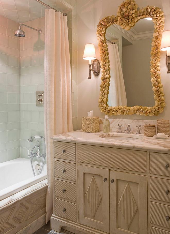 Small bathroom. Traditional small bathroom with custom cabinet and tub millwork. #Smallbathroom #Bathroom #cabinet #millwork #tubmillwork #tubsurround Phoebe Howard