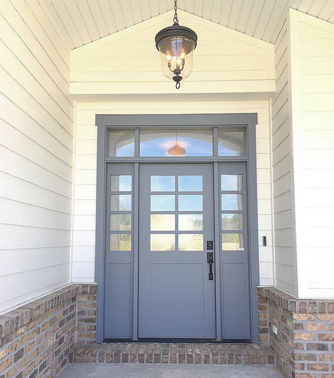 Storm Cloud by Sherwin Williams. Storm Cloud by Sherwin Williams. Grey door paint color Storm Cloud by Sherwin Williams. Grey door Storm Cloud by Sherwin Williams paint color #StormCloudbySherwinWilliams #StormCloud #SherwinWilliams #paintcolor #greydoor #greydoorpaintcolor Millhaven Homes.