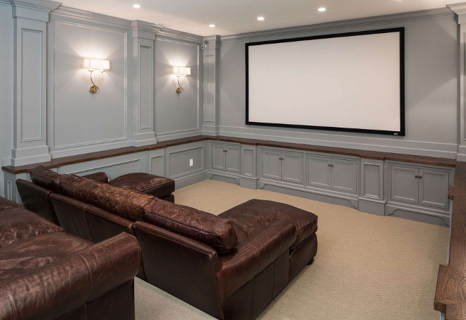 Theatre Room Home Design Ideas, Pictures, Remodel and Decor. Grey Theatre Room Home Design Ideas, Pictures, Remodel. Grey Theatre room. #GreyTheatreRoom#TheatreRoom Fox Group Construction