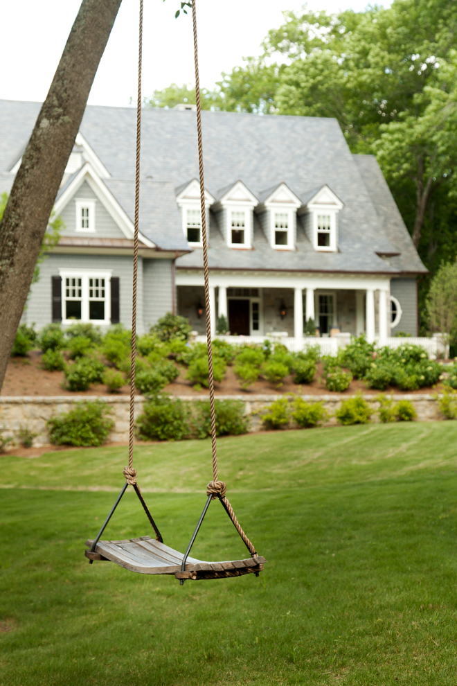 Tree Swing. Home features a tree swing. #three #swing T.S. Adams Studio. Interiors by Mary McWilliams from Mary Mac & Co.